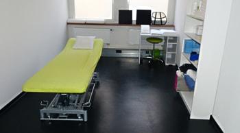 Behandlungsraum Physiotherapie B.Schwank Stuttgart
