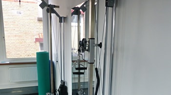 Geräteraum der Physiotherapiepraxis Benjamin Schwank in Stuttgart