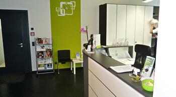 Rezeption der Physiotherapiepraxis B.Schwank in Stuttgart
